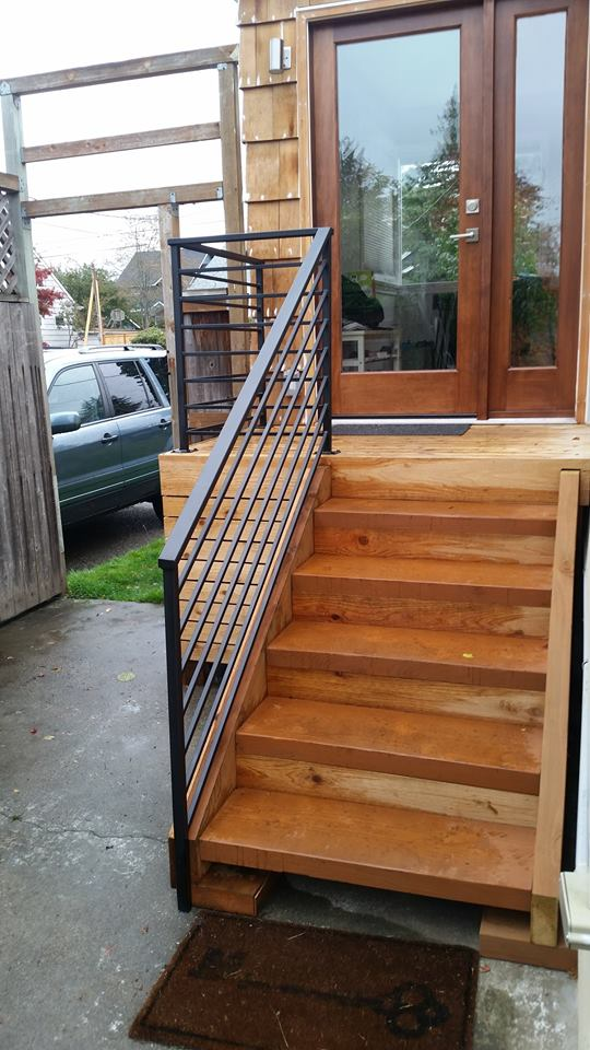 railings exterior stairs ace iron works